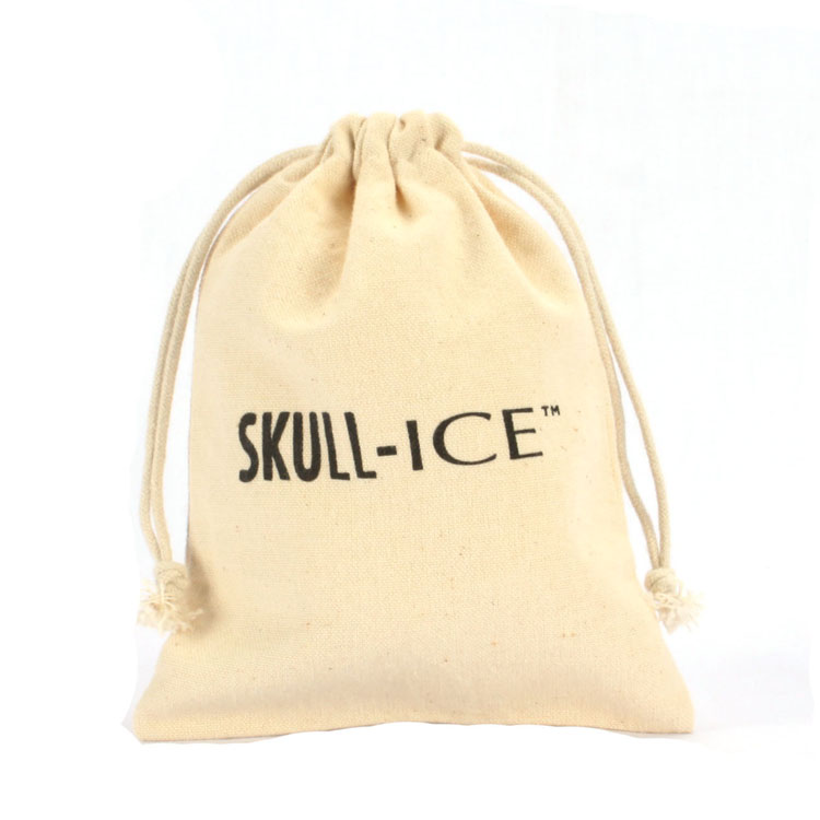Reusable Cotton Drawstring Pouch With Logo