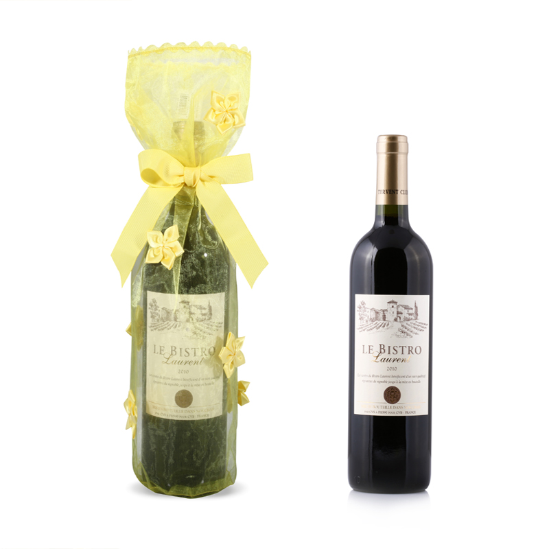 Customized Gift Packaging Organza Wine Bag