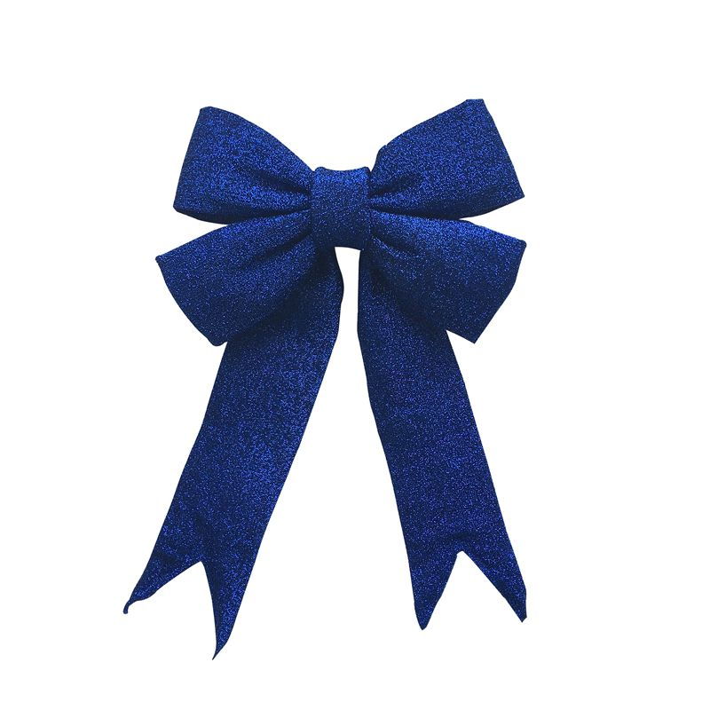 Giant Christmas Decoration Textured Glitter Bows