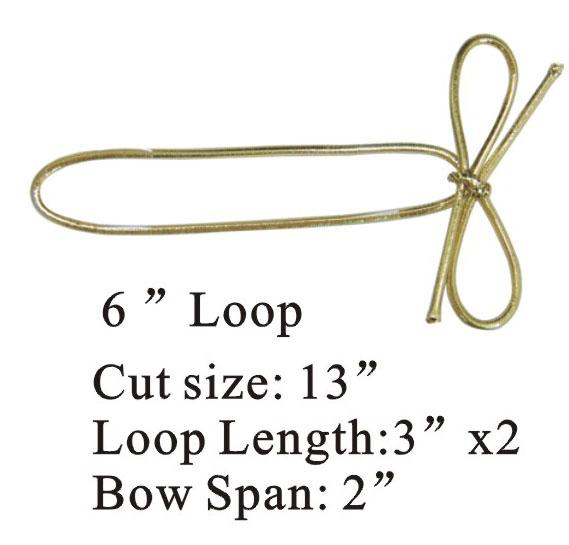 Gold Metallic Elastic Bow Tie