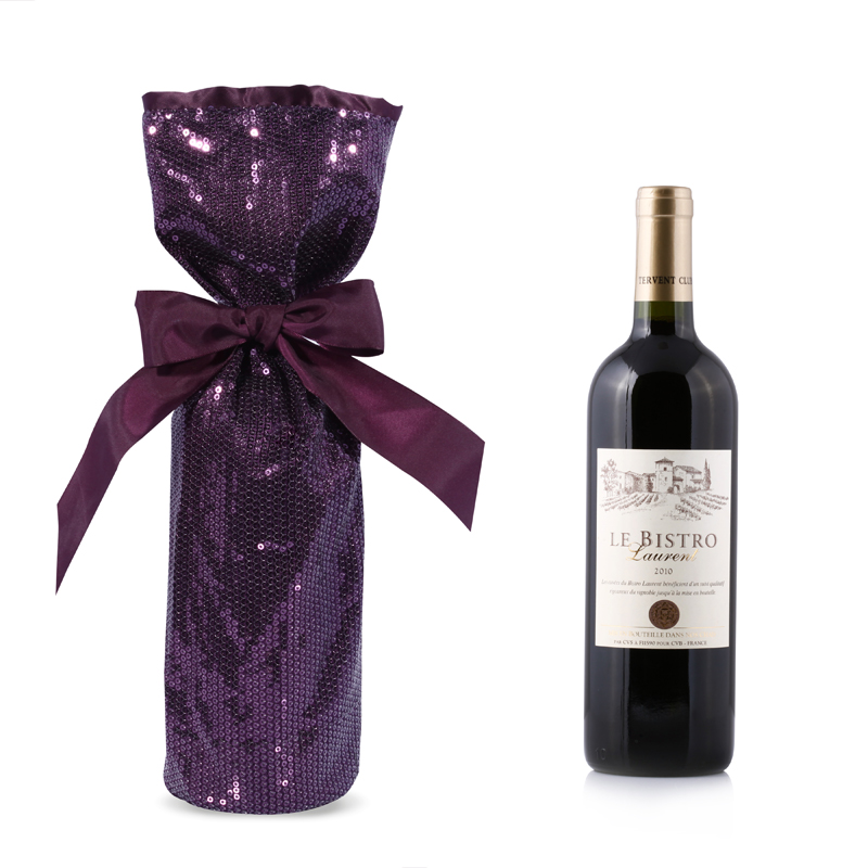 Glitter Wine Bottle Carrier Fabric Bags