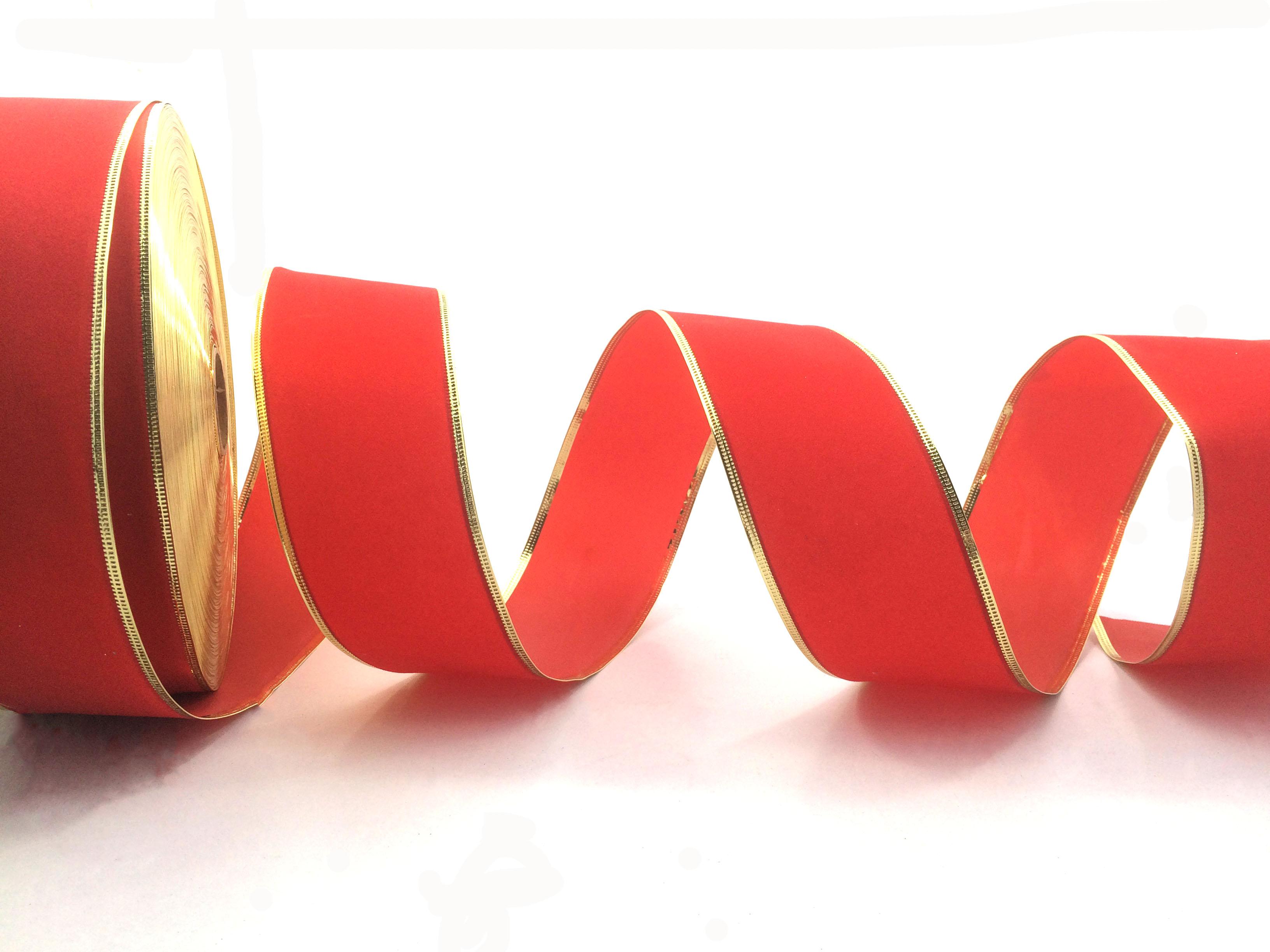 Velvet Wired Ribbon For Chrismas Decorative