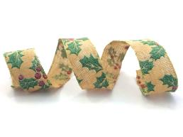 Customized Printing Wired Ribbon for Christmas