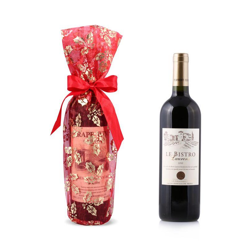 Printed Bottle Wine Gift Bags