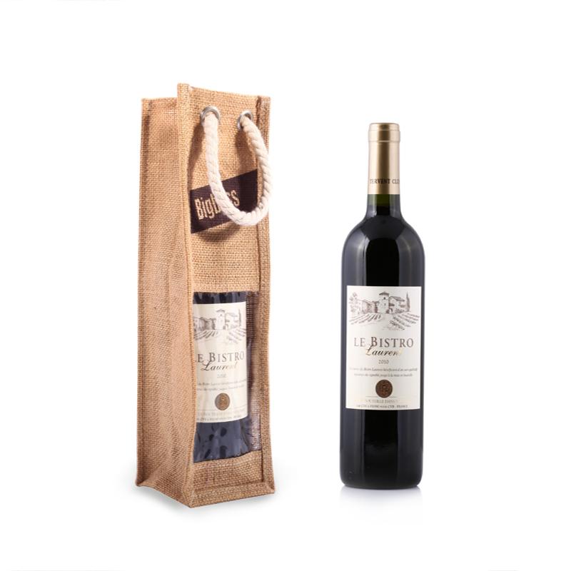 Jute Wine Gift Bottle Bag