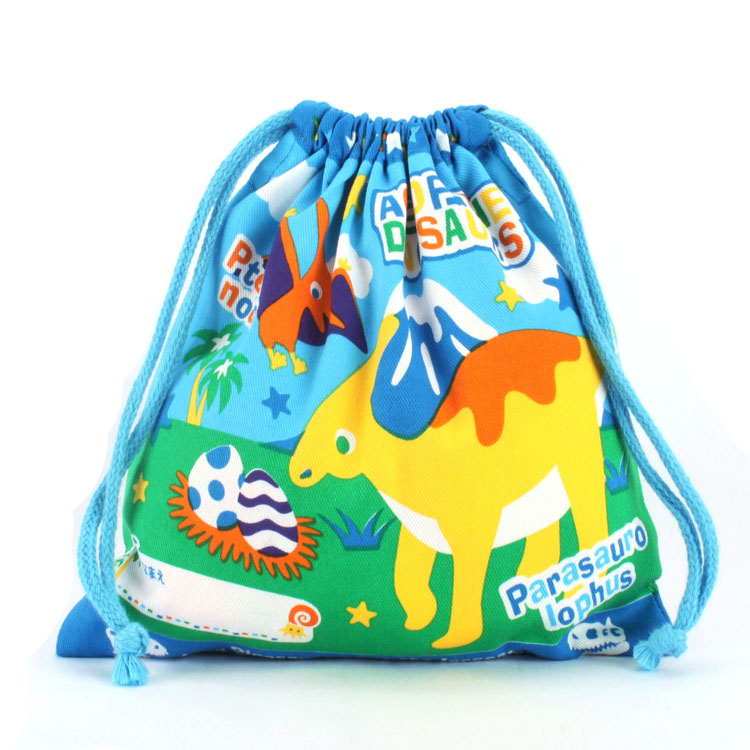Printed Colorful Drawstring Cotton Pouches