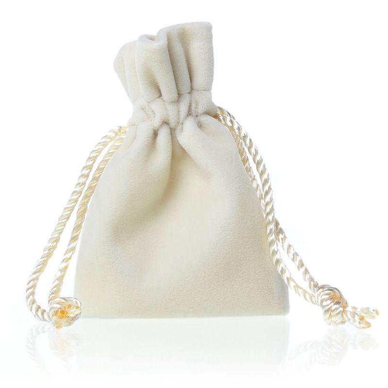 White Luxry Velvet Drawstring Gift Pouches