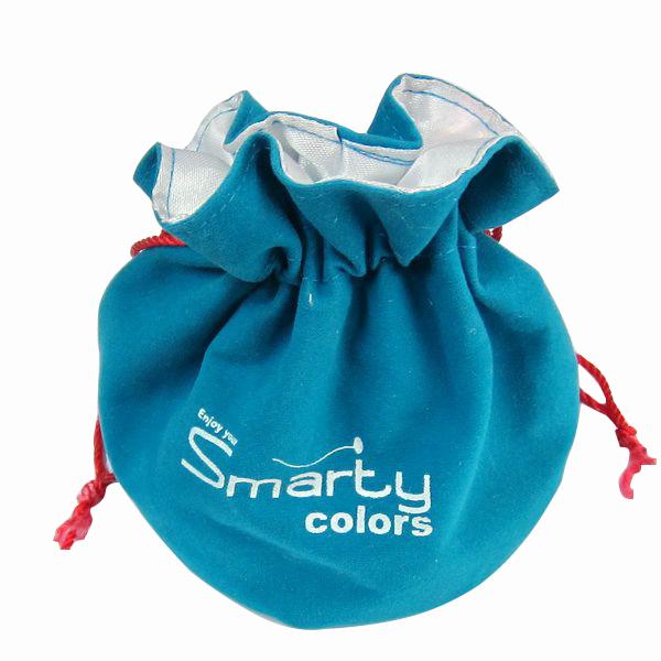 Round Bottom Velvet Drawstring Packaging Pouches