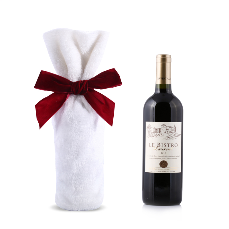 White Wine Bottle Bags With Bow