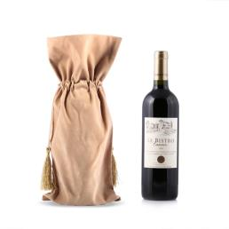 Custom Satin Fabric Wine Bag