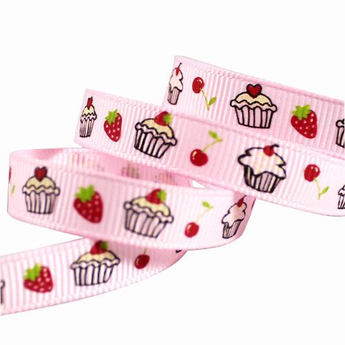 Customized Pink Grosgrain Ribbon