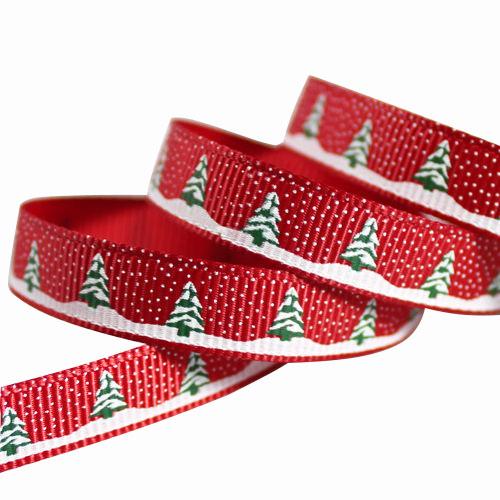 Grosgrain Ribbon With Christmas Tree