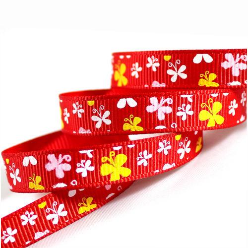 "3/8"" Red Grosgrain Ribbon"