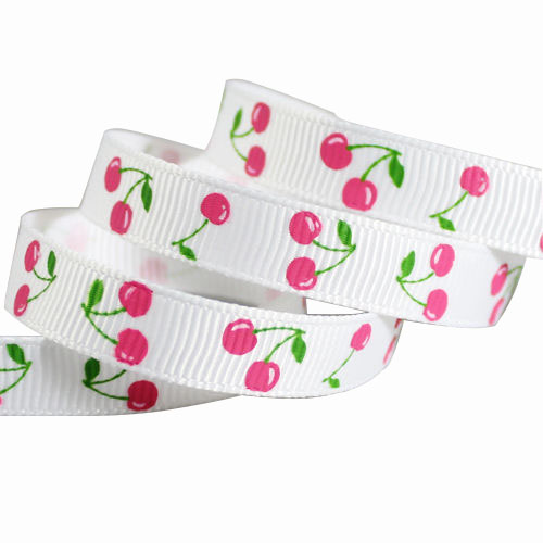 Colorful Grosgrain Ribbons with Printing