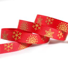 Customized Red Grosgrain Ribbon With Design