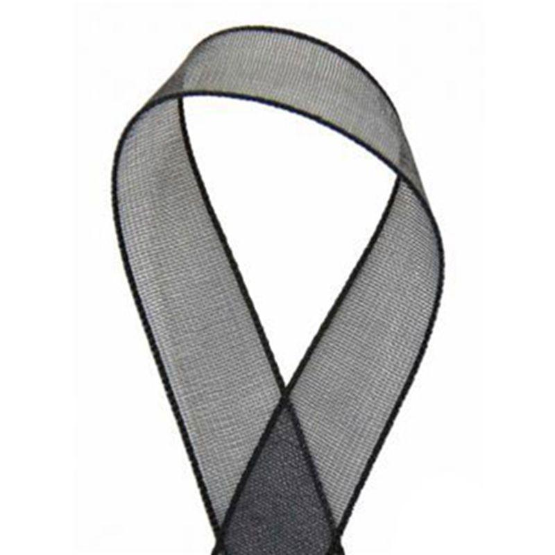 Sheer Organza Ribbon Black