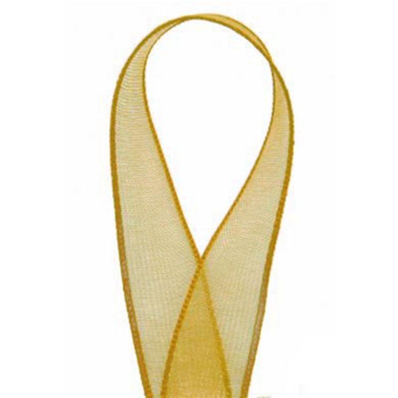 Sheer Organza Ribbon Gold