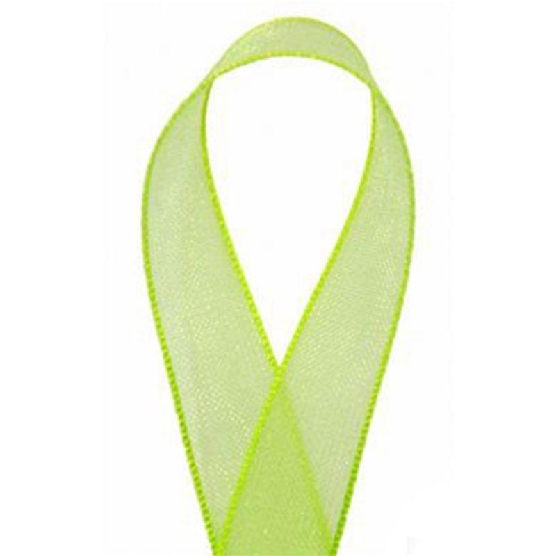 Sheer Organza Ribbon Lime