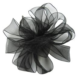 Sheer Organza Ribbon Black