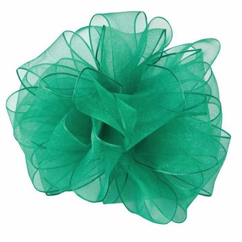 Sheer Organza Ribbon Emerald