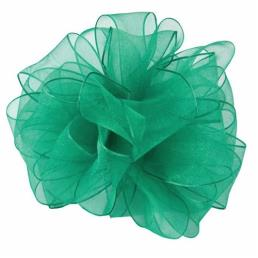 Sheer Organza Ribbon Emerald