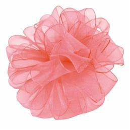 Sheer Organza Ribbon Coral
