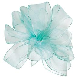 Sheer Organza Ribbon Aqua
