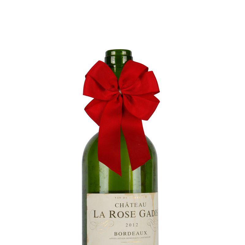 Packaging Satin Ribbon Bow for Wine Bottle