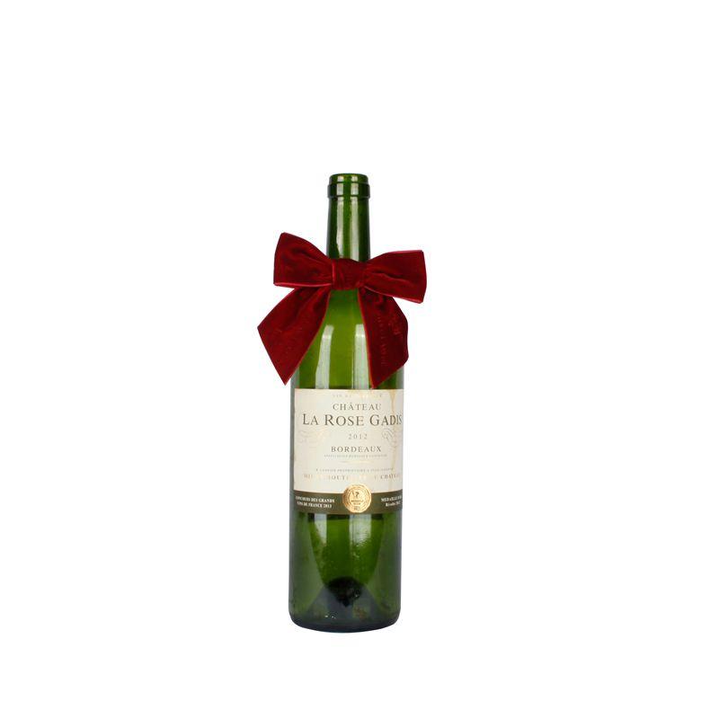 Packaging Velvet Ribbon Bow for Wine Bottle