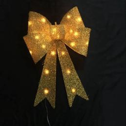 Glitter Bow LED Lamp Gold
