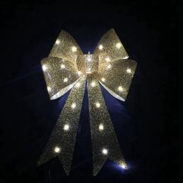 Glitter Bow LED Lamp Yellow