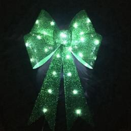 Glitter Bow LED Lamp Lime