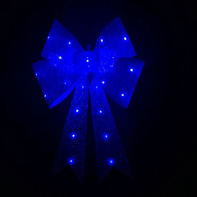Glitter Bow LED Lamp Royal Blue