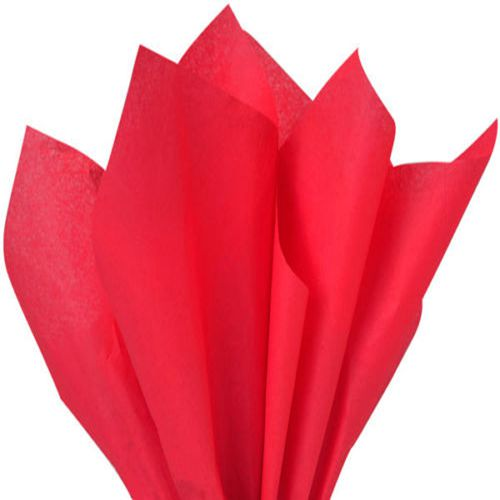 Dark Red Tissue Wrapping Paper