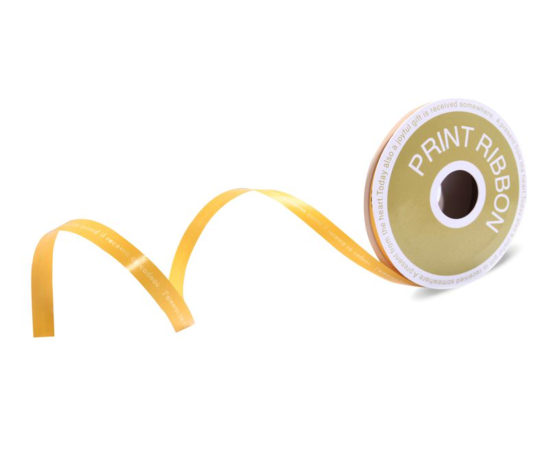 Customized Printed Poly Curling Ribbon Yellow