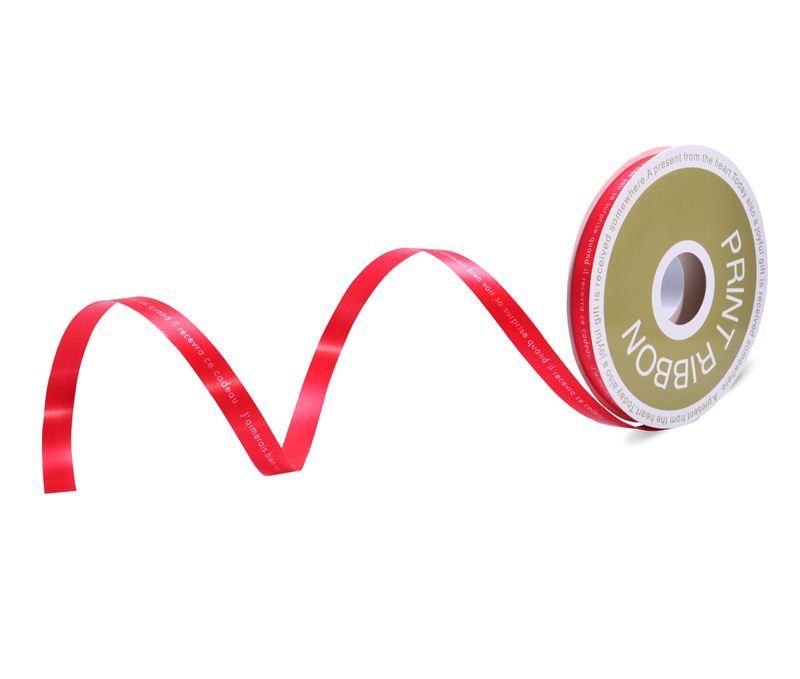 Customized Printed Poly Curling Ribbon Red