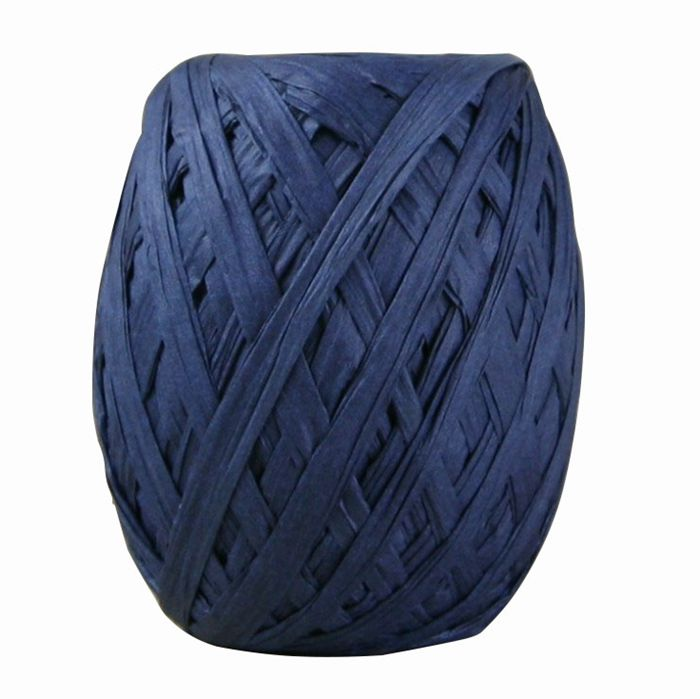 Dark Blue Paper Raffia Wholesale
