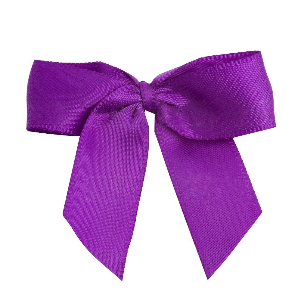 Satin Ribbon Christmas Wrapping Gift Bows Plum