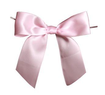 Satin Ribbon Christmas Wrapping Gift Bows Pink