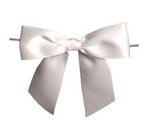 Satin Ribbon Christmas Wrapping Gift Bows Silver