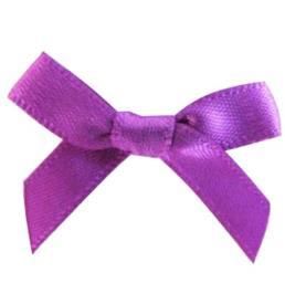 Satin Ribbon Christmas Wrapping Gift Bows Purple
