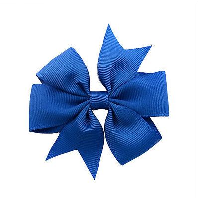 Grosgrain Ribbon Christmas Wrapping Gift Bows Royal blue
