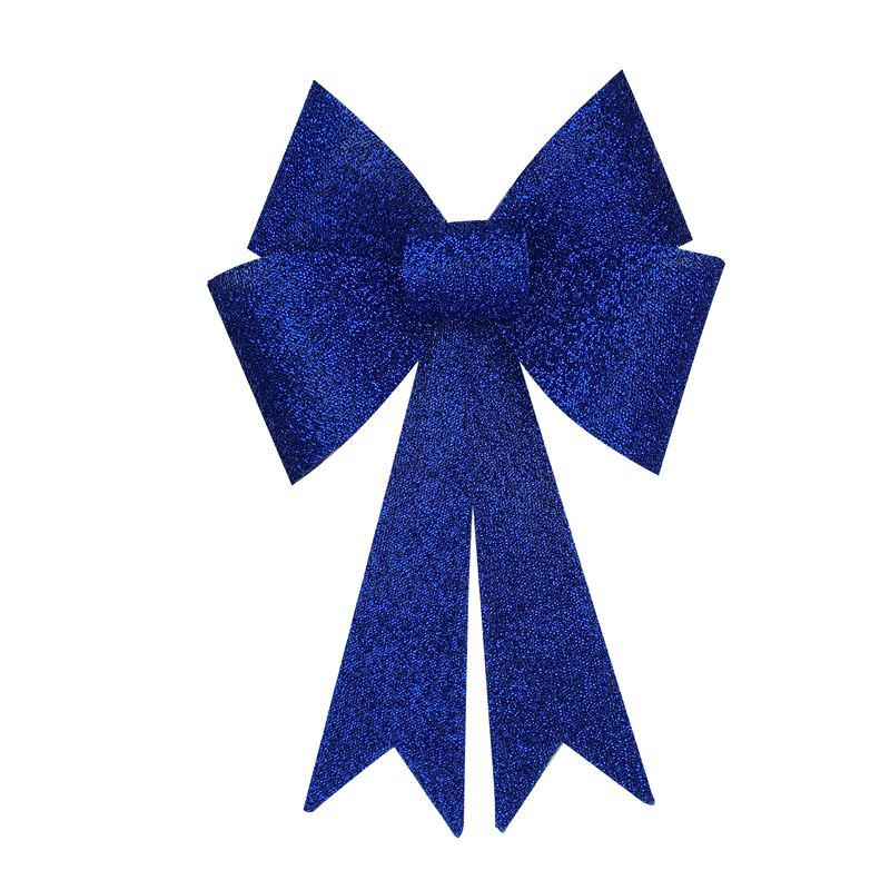 Textured Glitter Bow LED Lamp Royal Blue