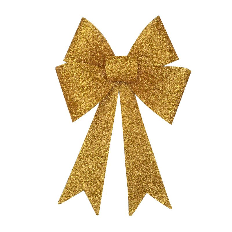 Textured Glitter Bow LED Lamp Yellow
