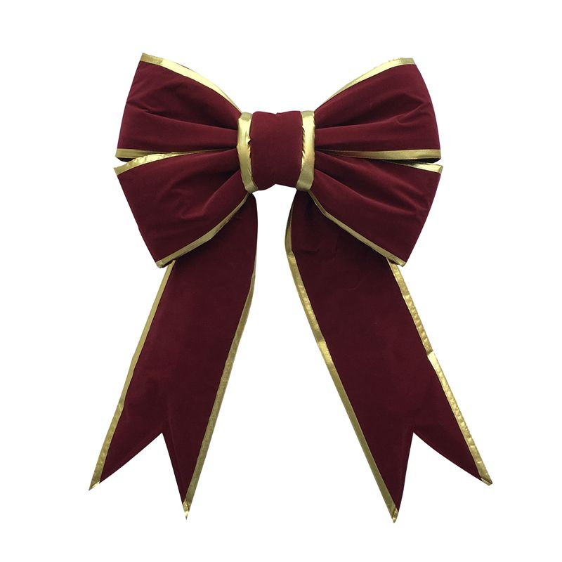 Giant Bow With Gold Trim Rust