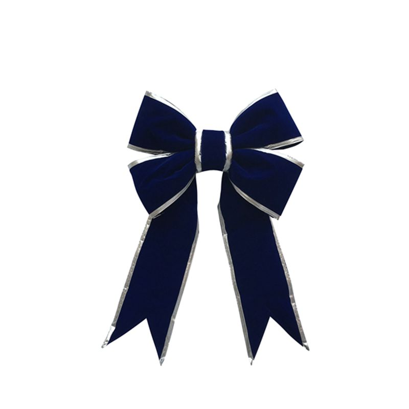Giant Bow With Silver Trim Royal Blue