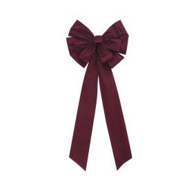 Burgundy Velvet Bow for Christmas Decoration