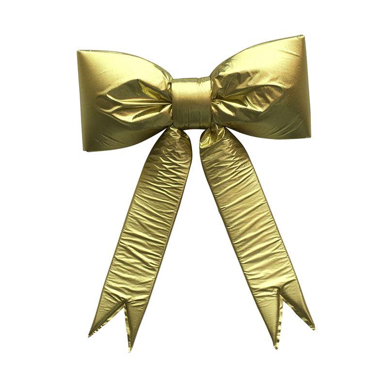 Metallic Christmas Decorative Bow Gold