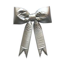 Metallic Christmas Decorative Bow Silver