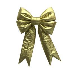 Giant Metallic Christmas Decorative Bow Gold
